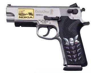 hape, hp, handphone, ponsel, nokia, pistol aneh unik, mematikan