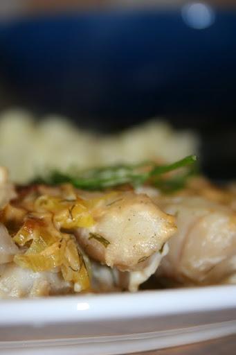 Filety z dorsza zapiekane w porach