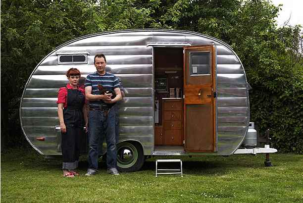 a 1954 cardinal travel trailer