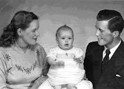 Jean and Hal with baby Lynn 1956