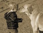 AJ and a dog named Louie