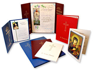 Image of mass cards, via Clerical Whispers blog