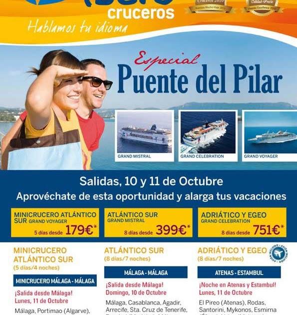 Cruceros ofertas minicrucero barato puente del pilar desde m laga - Ofertas desde malaga ...