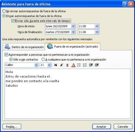 La inform tica de dunbit mensaje de correo para fuera de for Fuera de oficina gmail