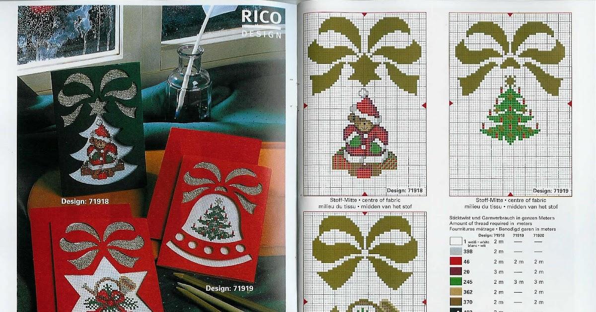Вышивка крестом новогодних открыток и