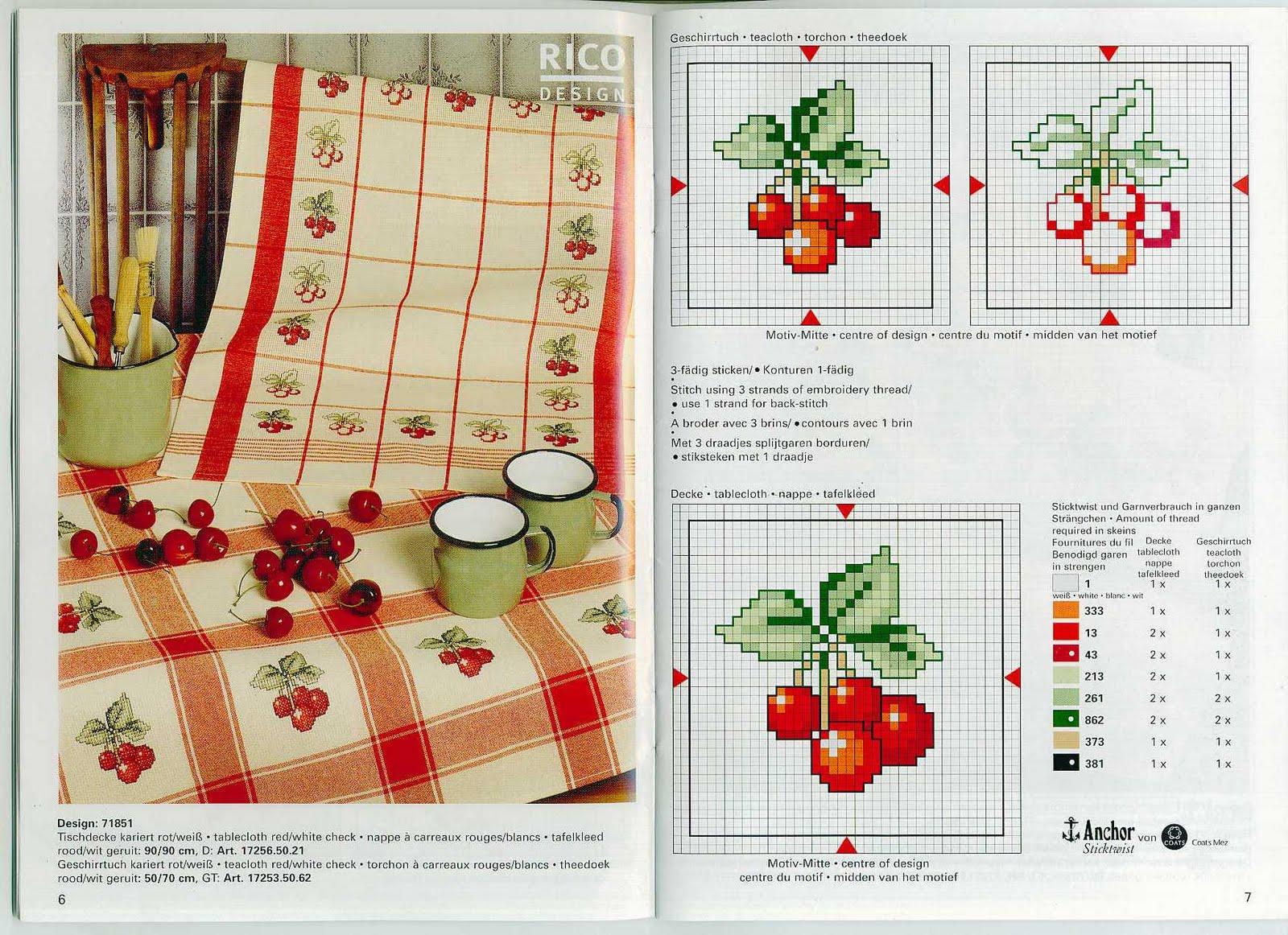 схема вышивки крестиком ветка рябины