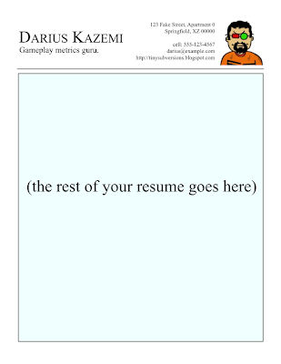 gamasutra darius kazemi s blog writing a resume for a game company