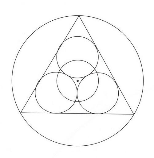 Mandalas Para Pintar: circulos y triangulo juntos