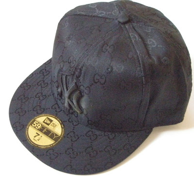 Custom Urban Chic  New Era 59Fifty Black Gucci Fitted Hat size 7 1 2 ... d6325a30030