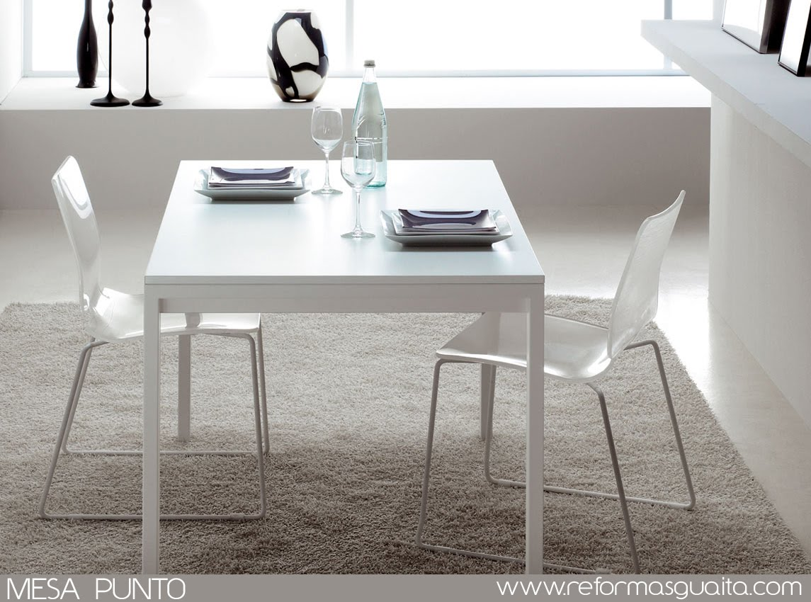 Mesa punto para un office con clase reformas guaita for Mesa cocina blanca