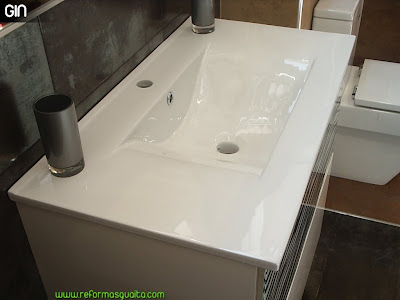 Colecci n loira de muebles de ba o r sticos coloniales - Encimera lavabo cristal ...