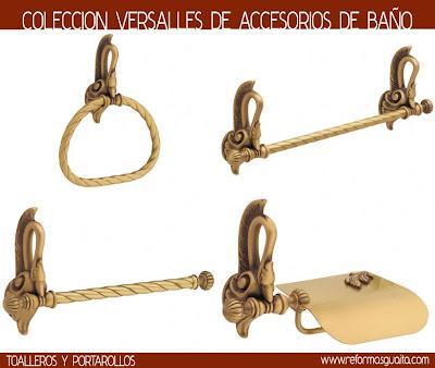 Colecci n versalles de accesorios r sticos reformas guaita for Accesorios bano dorados