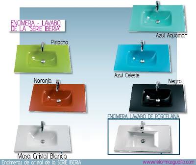 Fondo reducido a 35 cms con alto brillo reformas guaita - Encimera lavabo cristal ...