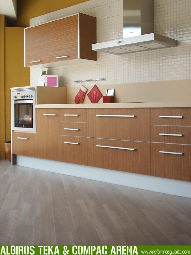 Algiros teka arena cocina en nuestra exposici n for Suelo cocina gris antracita