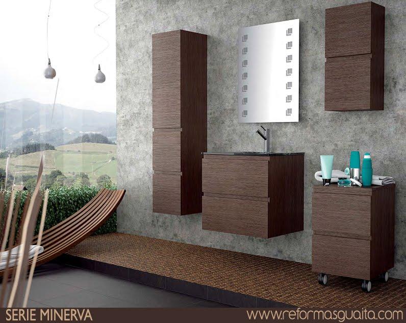 Mueble Baño Roble GrisSerie MINERVA de muebles de baño ~ Reformas