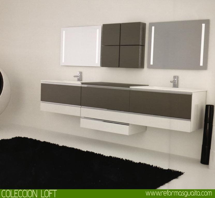 Colecci n loft de muebles de ba o reformas guaita - Lavabos de colores ...