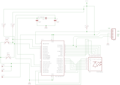 LED dot matrix development board Schematic