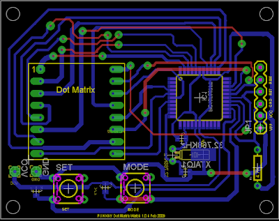 LED dot matrix development board PCB