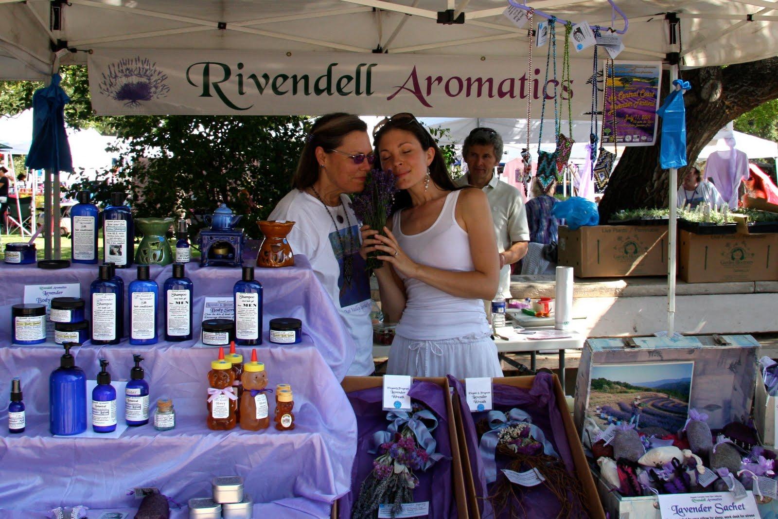 Hosting the Ojai Valley Lavender Festival 6/26/10, Rachel with associate