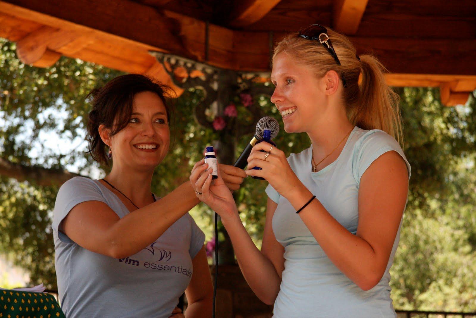 Hosting the Ojai Valley Lavender Festival 6/26/10, two girls