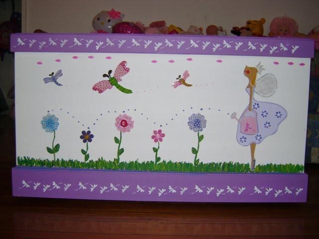 Desde el alma macetas decoradas pintado a mano - Baul para guardar juguetes ...