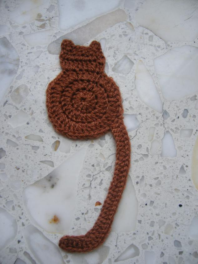 Free Crochet Bookmark Patterns : Free Easy Crochet Cat Bookmark Patterns
