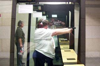 Sarah at Gun Range