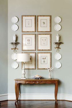 from McMansion to French Country Cottage, entryway designed by interior designer Martha Sweezey