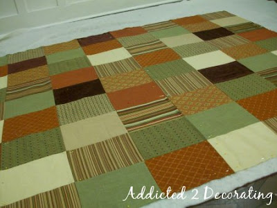 D.I.Y. Project, How to make a patchwork quilted throw.