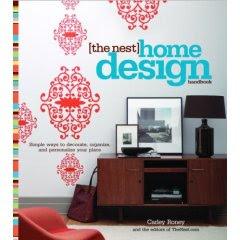 cover of book The Nest Home Design Handbook featuring iron vines wall decal from Blik
