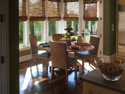 Kitchen Breakfast Nook Window Treatments