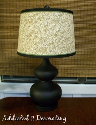 Now thats not so difficult is it just think of the possibilities sometimes i find it impossible to find just the right ready made lampshade for a room