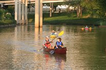 Canoe on Buffalo Bayou