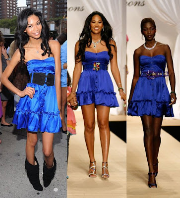 Chanel Iman and Kimora Lee Simmons in Babyphat Phat S/S 2008
