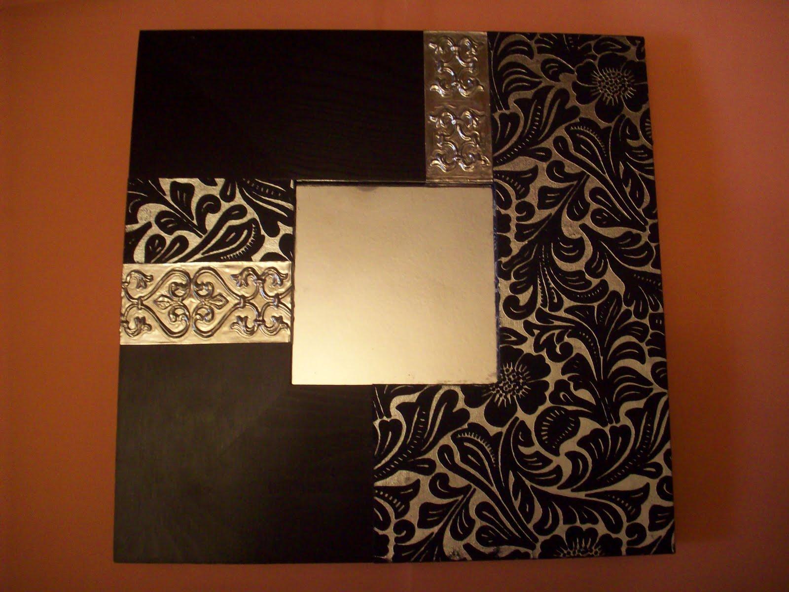 Creando manualidades cuadros malma decorados - Manualidades espejos decorados ...