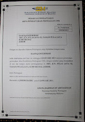 sijil pendaftaran perniagaan (NO.JM0586528-X)