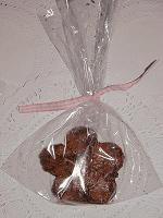 Brownie em forma de flor..
