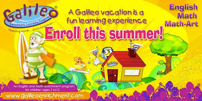 Get a chance to win FREE Galileo Math-Art Sessions for your child!