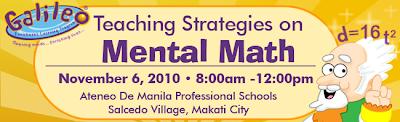 Upcoming Seminar: Teaching Strategies on Mental Math