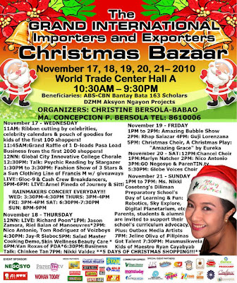 Sale Alert: Grand Christmas Bazaar at the WTC (Nov. 17-21)