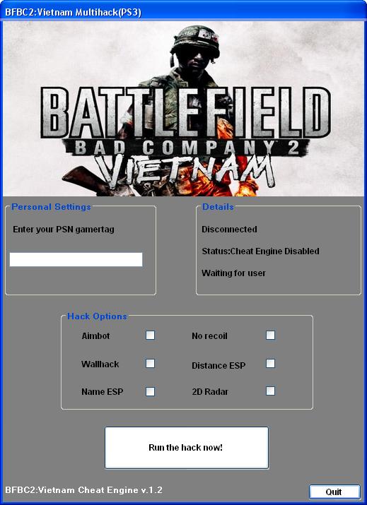 aimbot for battlefield bad company 2
