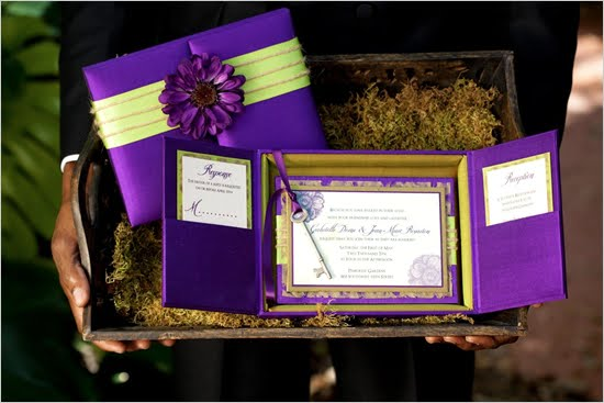 wedding invitation purple turquoise gold