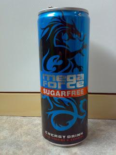 The power of caffeine and taurine mega force sugarfree
