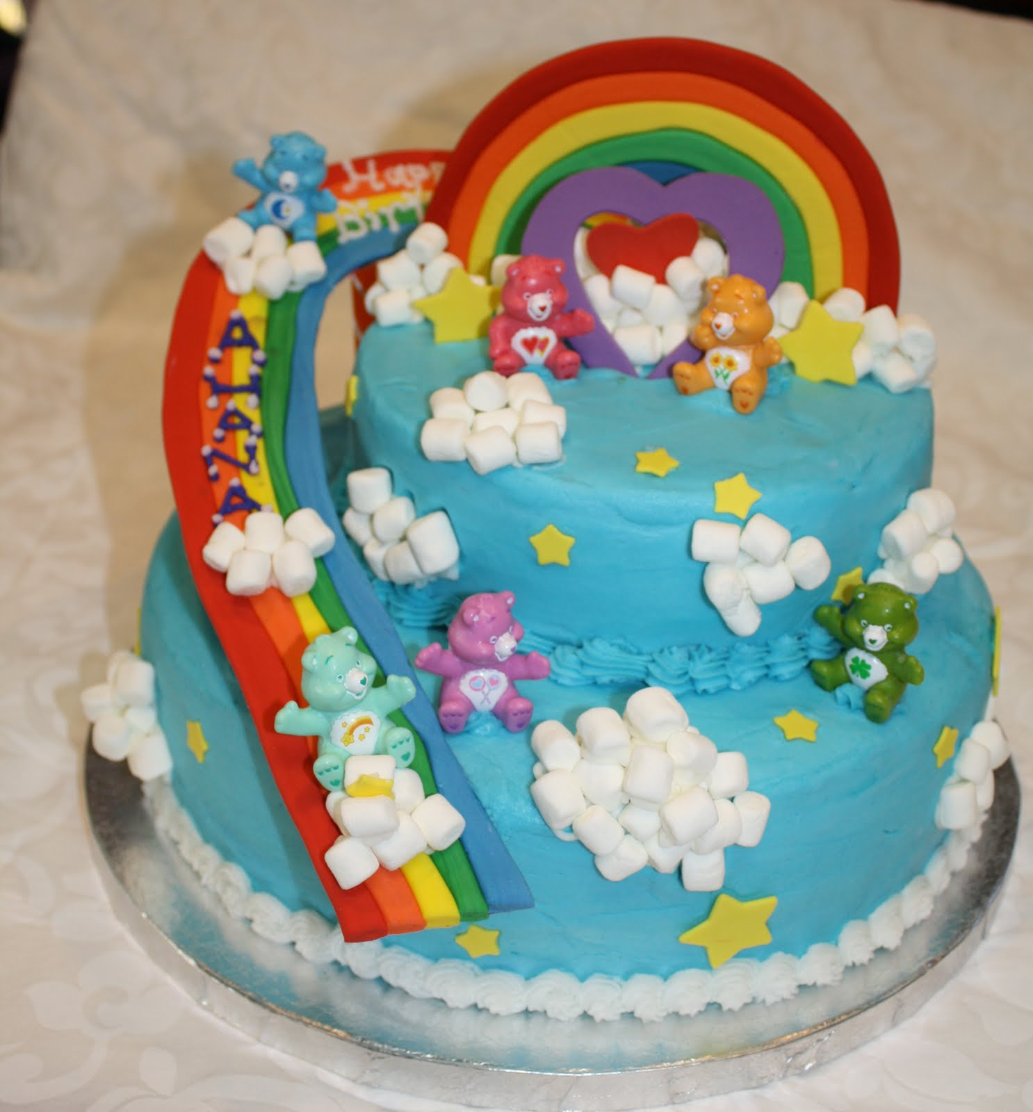 cakelicious care bears birthday cake