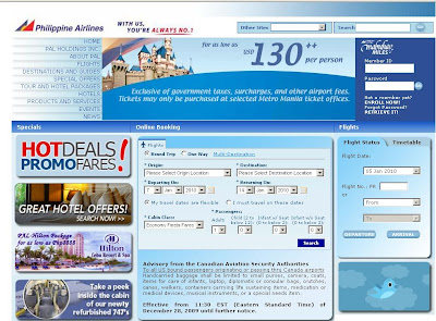 Philippine Airlines Online Reservation & Flight schedule