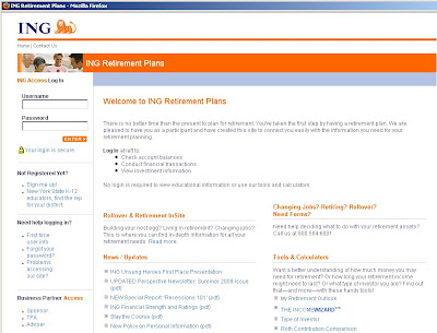 Ing Retirement Login & Plans at www.ingretirementplans.com