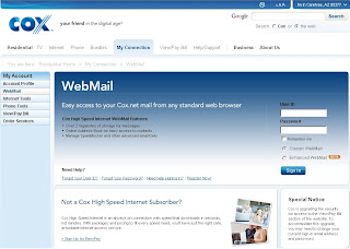 Webmail.cox.net: Login to Cox High Speed Internet WebMail