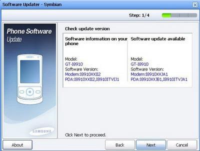 samsung i8910HD MAJ firmware JB1 Samsung Omnia HD i8910: Mise A Jour Firmware