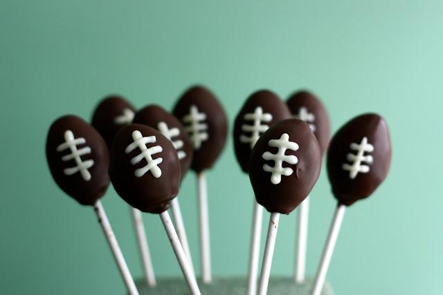 love and butter football cake pops. Black Bedroom Furniture Sets. Home Design Ideas