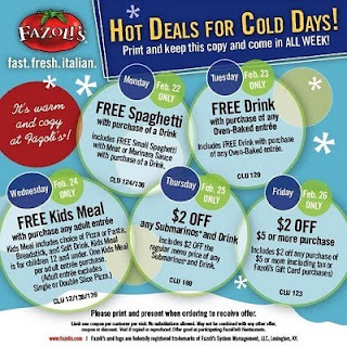 graphic regarding Fazoli's Printable Coupons titled My Chicago Mommy - Excessive Couponing Chicago: 2/14/10 - 2/21/10